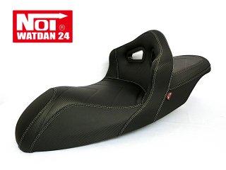 NOI WATDAN YAMAHA N-MAX125・N-MAX155 ローダウン シングルバケットシート カーボンブラック/ホワイトステッチ 期間限定!8月末まで送料無料!
