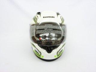 【公道使用不可】 インドネシアKAWASAKI NINJAフルフェイスヘルメット Lサイズ