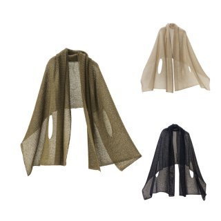 nico ストールポンチョ / 風を通すざっくり編み