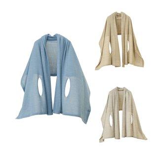 nico 羽織るポンチョ / 贅沢なシルク100% 雪国新潟の待ちわびる春をテーマに