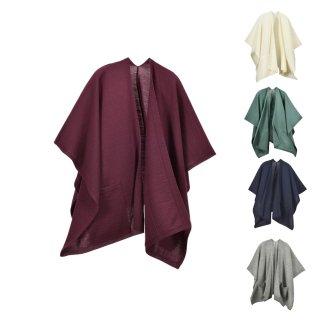 tate-S 羽織るポンチョ / 手をあたためるポケット エアリーウール