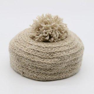 ポンポンがかわいいニットトークベレー帽