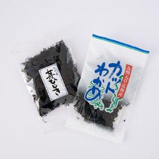 【レターパック】上天草カットワカメ+上天草芽ひじきセット