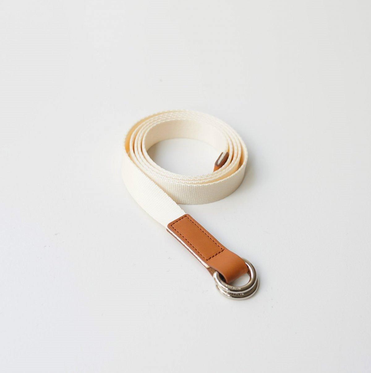 【Scye】SILKY TAPE BELTDOUBLE RING BELT - ECRU