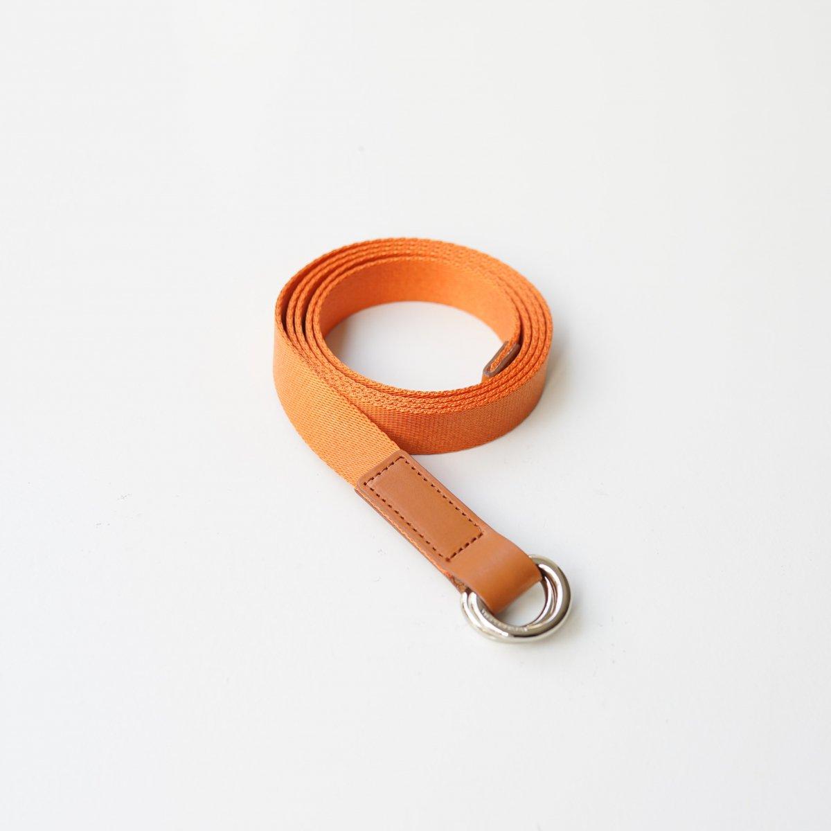 【Scye】SILKY TAPE BELTDOUBLE RING BELT - ORANGE