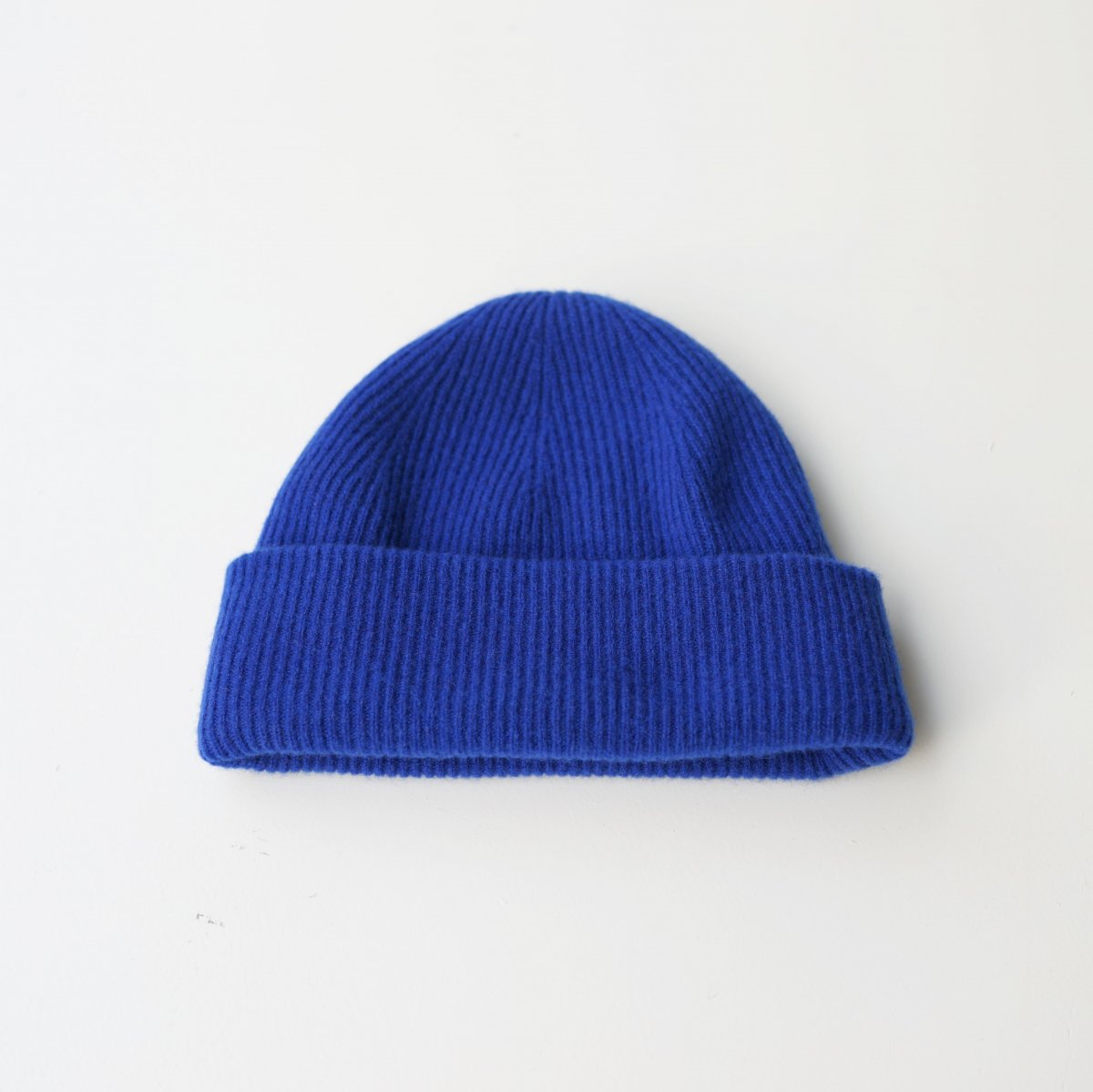 【UNDECORATED アンデコレイテッド】PURE CASHMERE KNIT CAP - BLUE