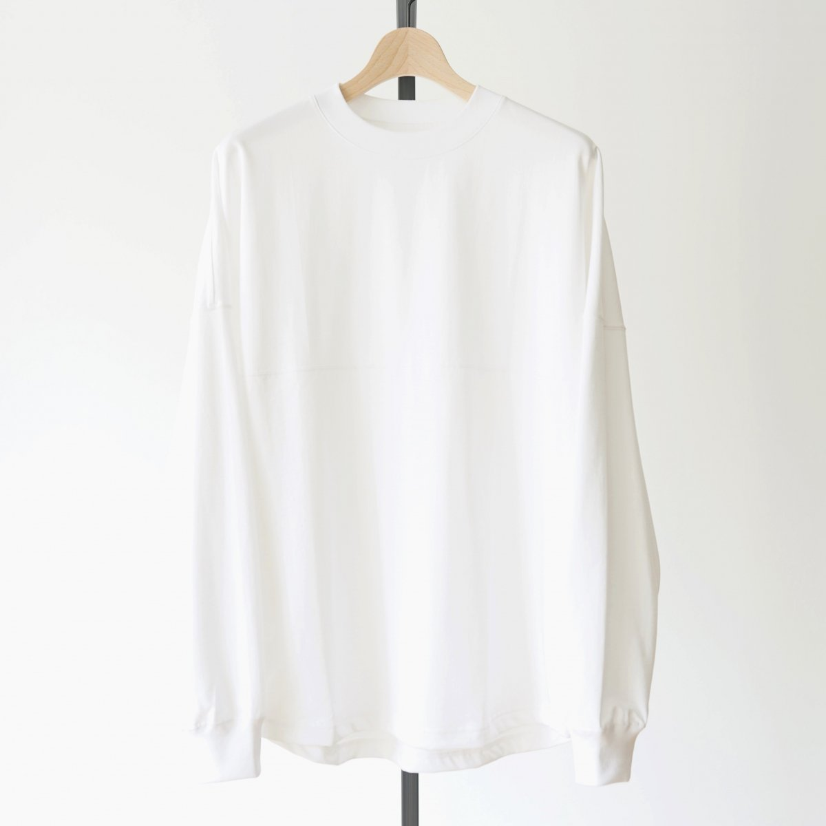 【unfil】ORGANIC COTTON LONG SLEEVE TEE - WHITE