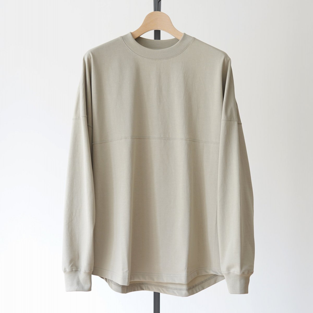 【unfil】ORGANIC COTTON LONG SLEEVE TEE - SMOKEY GREEN