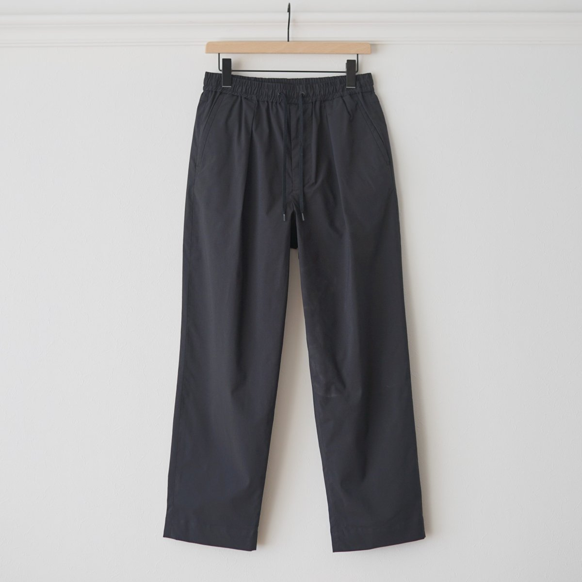 【AVONTADE アボンタージ】COMFORT WIDE EASY TROUSERS / cool max / - BLACK