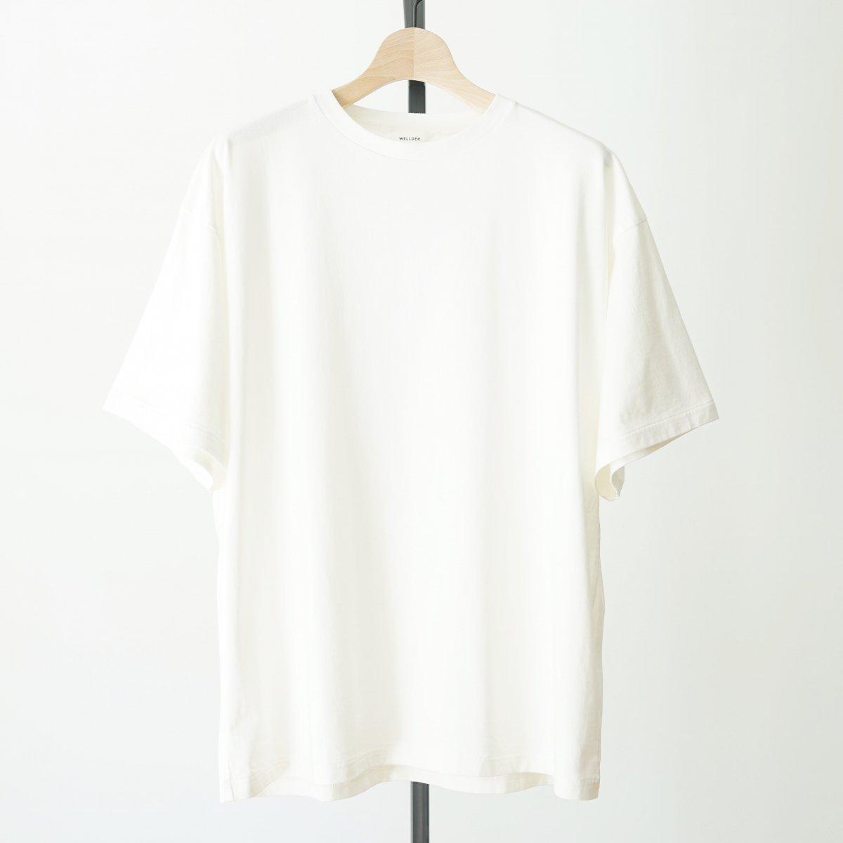 【WELLDER】CREW NECK T-SHIRT - WHITE