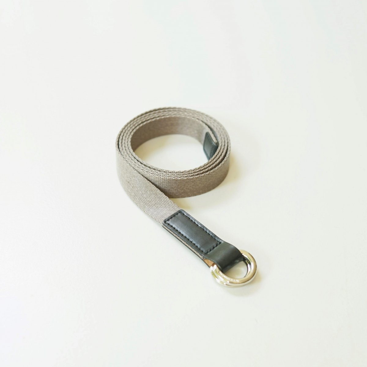 【Scye】SILKY TAPE BELTDOUBLE RING BELT - MAUVE GREY