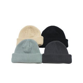 ADVANCE アドバンス COTTON BEANIE/BLACK,BEIGE,CHARCOAL,OLIVE GREY