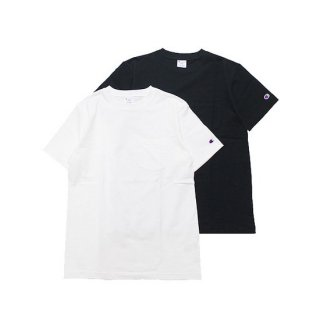 CHAMPION チャンピオン BASIC POCKET S/S TEE C3-M349/BLACK,WHITE