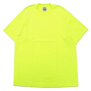 PRO CLUB プロクラブ HEAVYWEIGHT CREW NECK S/S TEE/SAFETY GREEN