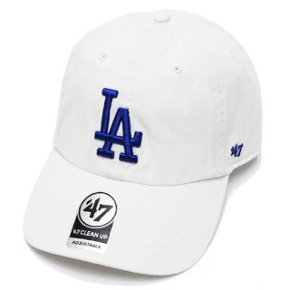 47BRAND フォーティーセブン DODGERS '47 CLEAN UP CAP/WHITE