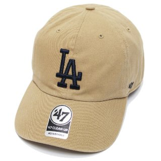 47BRAND フォーティーセブン DODGERS '47 CLEAN UP CAP/KHAKIxNAVY