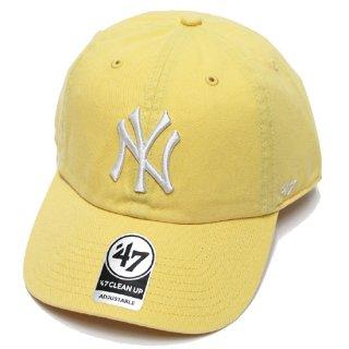 47BRAND フォーティーセブン YANKEES '47 CLEAN UP CAP/YELLOW