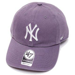 47BRAND フォーティーセブン YANKEES '47 CLEAN UP CAP/PURPLE