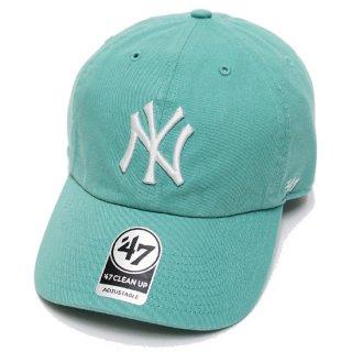 47BRAND フォーティーセブン YANKEES '47 CLEAN UP CAP/TURQUOISE