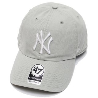 47BRAND フォーティーセブン YANKEES '47 CLEAN UP CAP/GREY