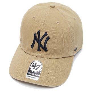 47BRAND フォーティーセブン YANKEES '47 CLEAN UP CAP/KHAKI
