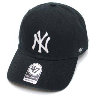 47BRAND フォーティーセブン YANKEES '47 CLEAN UP CAP/BLACK