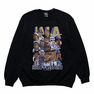 RAP ATTACK ラップアタック LA LA CREWNECK SWEAT RAWT20-CS002/BLACK
