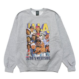 RAP ATTACK ラップアタック LA LA CREWNECK SWEAT RAWT20-CS002/HEATHER GREY