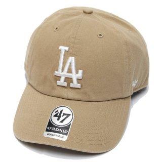 47BRAND フォーティーセブン DODGERS '47 CLEAN UP CAP/KHAKIxWHITE