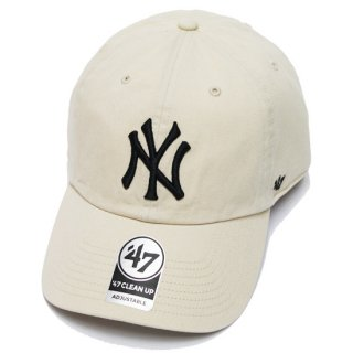 47BRAND フォーティーセブン YANKEES '47 CLEAN UP CAP/IVORY