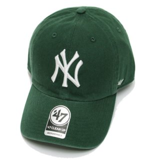 47BRAND フォーティーセブン YANKEES '47 CLEAN UP CAP/DARK GREEN