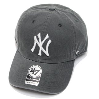 47BRAND フォーティーセブン YANKEES '47 CLEAN UP CAP/CHARCOAL