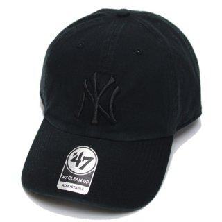 '47 フォーティーセブン YANKEES '47 CLEAN UP CAP/BLACKxBLACK