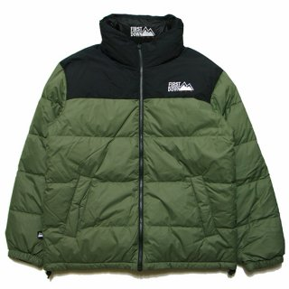 FIRST DOWN ファーストダウン REVERSIBLE DOWN JACKET F842500/OLIVExBLACK