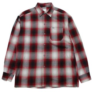 CALTOP キャルトップ FLANNEL L/S SHIRT/REDxWHITE
