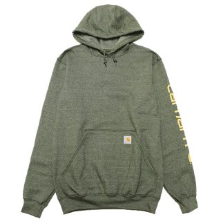 CARHARTT カーハート MIDWEIGHT SIGNATURE SLEEVE LOGO HOODED SWEAT K288/MOSS HEATHER