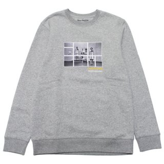 SANS FACON ソンファソン COMPOSITION CREWNECK SWEAT SF-HS140/GREY