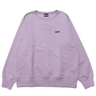 SCHOTT ショット LOGO EMBROIDERY CREWNECK SWEAT 3103152/LAVENDER