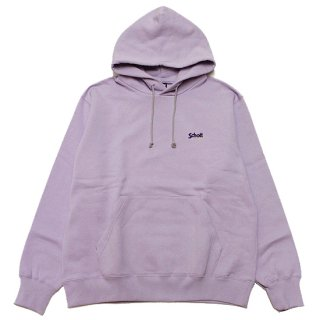 SCHOTT ショット LOGO EMBROIDERY HOODED SWEAT 3103153/LAVENDER