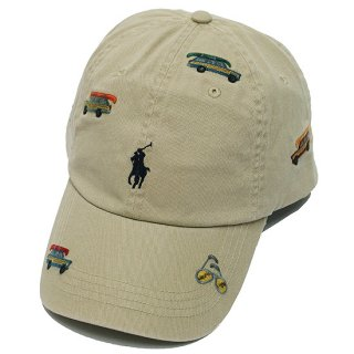 POLO RALPHLAUREN ポロ ラルフローレン EMBROIDERED CAP/TAN