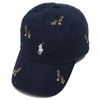 POLO RALPHLAUREN ポロ ラルフローレン EMBROIDERED CAP/NAVY