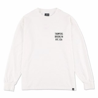 THUMPERS サンパーズ LOGO L/S TEE/WHITE
