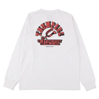THUMPERS サンパーズ HONKY TONK L/S TEE/WHITE