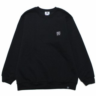 THUMPERS サンパーズ EMBROIDERY BOX LOGO SWEAT/BLACK