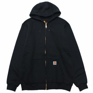 CARHARTT カーハート MIDWEIGHT HOODED ZIPFRONT SWEAT K122/BLACK