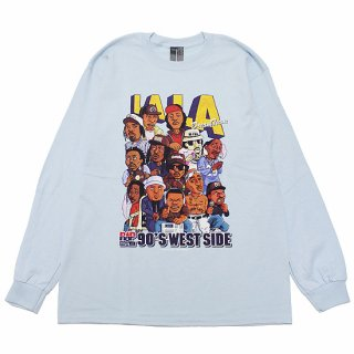 RAP ATTACK ラップアタック LA LA L/S TEE RASP21-LT002/LIGHT BLUE