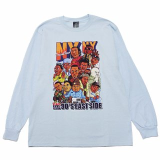 RAP ATTACK ラップアタック NY NY L/S TEE RASP21-LT001/LIGHT BLUE