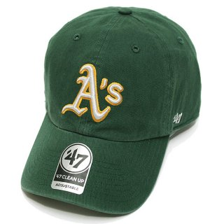 47BRAND フォーティーセブン ATHLETICS '47 CLEAN UP CAP/DARK GREEN