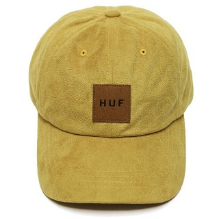 HUF ハフ BOX LOGO SUEDE CV 6 PANEL CAP/GOLDEN SPICE
