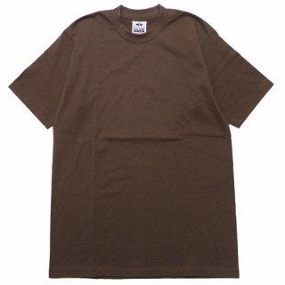 PRO CLUB プロクラブ HEAVYWEIGHT CREW NECK S/S TEE/BROWN